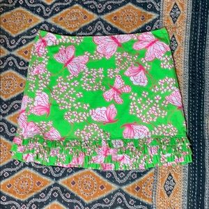 EUC Lily Pulitzer butterfly skirt with ruffle 6